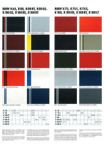 BMW Colour chart