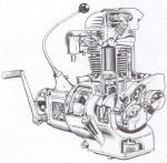 BMW R4 Series 5 Engine Cutaway Photo