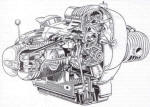 BMW R51/2 Engine Cutaway Photo