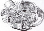 BMW R69S Engine Cutaway Photo