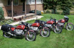 BMW R75/6's in Bol D'Or Red