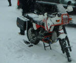 BMW R100GSPD with skis photo