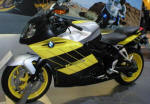 BMW K1200S in Sun Yellow, White and Dark Graphite