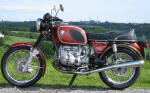 BMW R90/6 in Bol d'or Red