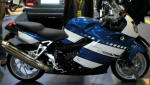 BMW K1200S in Indigo Blue and Alpine White