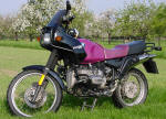 BMW R100GS in purple