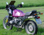 BMW R100GS in purple photo