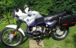 BMW R100GSPD in purple and white