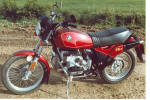 BMW R80ST in metallic red photo